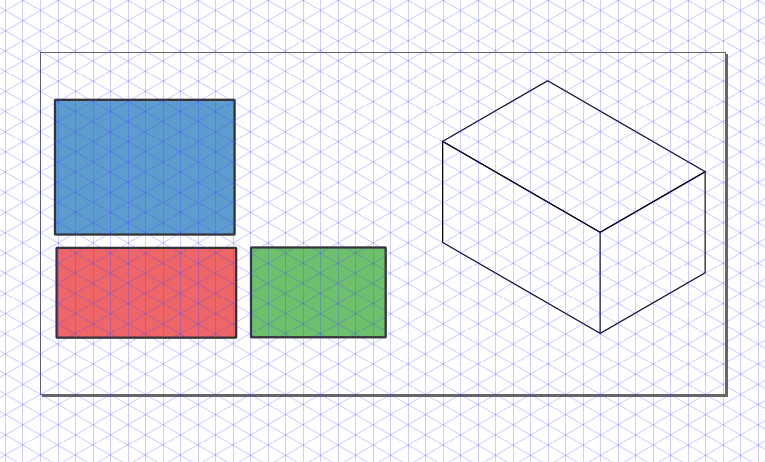 Second approach: using an axonometric grid